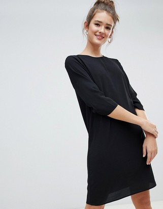 Only mini shift dress in black