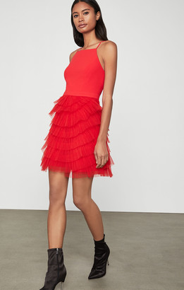 BCBGMAXAZRIA Casandra Pleated Dress