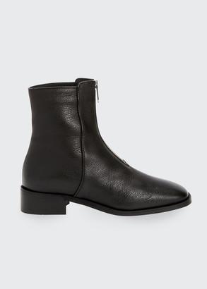 Aquatalia Tenley Zip-Front Ankle Booties