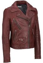 Black Rivet Womens Leather Motorcycle Jacket