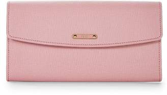 Fendi Pink Leather Continental Wallet