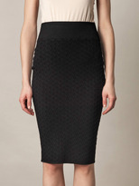 Alexander McQueen Quilted honeycomb-knit tube-skirt
