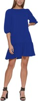 Thumbnail for your product : DKNY Ruffled-Hem Elbow-Sleeve Dress