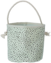 ferm LIVING Mini Green Polka Dot Basket