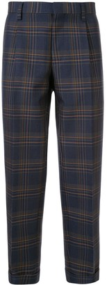 Kolor Cropped Checked Print Trousers