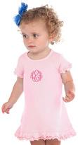 Princess Linens Pink Monogram Ruffle Dress - Infant & Kids