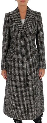 Dolce & Gabbana Checked Long-Line Coat