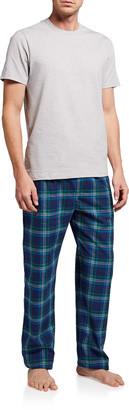Neiman Marcus Men's Cotton Plaid Pajama Set