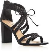 Via Spiga Gardenia Lace Up High Heel Sandals