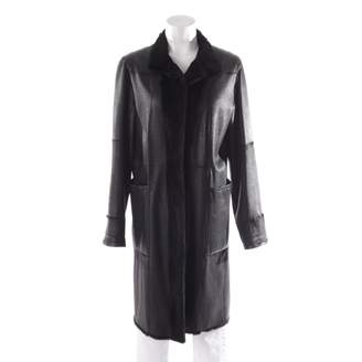N. Non Signé / Unsigned Non Signe / Unsigned \N Black Fur Jackets