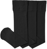 Joe Fresh Women's 3 Pack Knee Highs, Black (Size O/S)