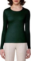 Akris Cashmere-Silk Double-Layer Long-Sleeve T-Shirt