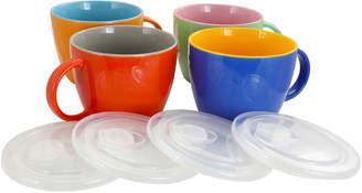 Gibson Home Earthling Soup Mugs, Set of 4
