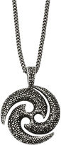 FINE JEWELRY Mens Stainless Steel Antiqued & Textured Circle Pendant