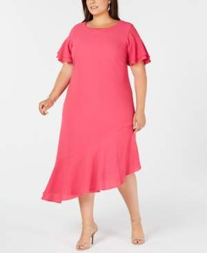 Alfani Plus Size Asymmetric Ruffled A-Line Dress, Created for Macy's