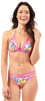 Voda Swim Lanai Envy Push Up Cutout String Bikini Top