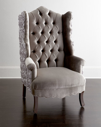 Haute House Isabella Rosette Wingback Chair