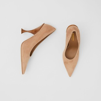 Burberry Suede Point-toe Pumps