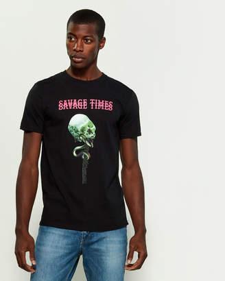 Bolongaro Trevor Savage Times Skull Short Sleeve Tee