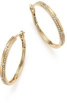 Bloomingdale's Diamond Micro Pavé Hoop Earrings in Matte 14K Yellow Gold, .30 ct. t.w.