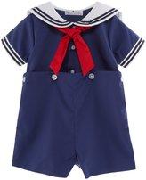 Petit Ami Baby Boys 3-24 Months Sailor Suit Shortall
