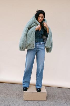 BDG Lana High-Waisted Wide Leg Jean Faded Medium Wash
