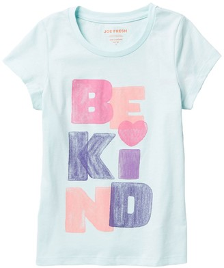 Joe Fresh Be Kind Swing T-Shirt (Little Girls & Big Girls)