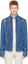 Pierre Balmain Blue Denim Convertible Jacket
