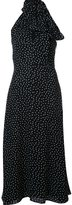 Saint Laurent polka dot maxi dress - women - Viscose - 36