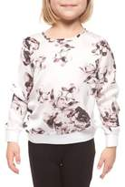 Dex Little Girl's Floral-Print Long-Sleeve Sweater