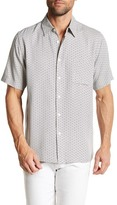 Toscano Fish Eye Short Sleeve Regular Fit Shirt