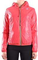 K-Way Women's Red Polyamide Outerwear Jacket.