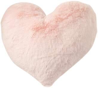 "Nordstrom Rack Snuggle Faux Fur Heart Pillow - 16"""