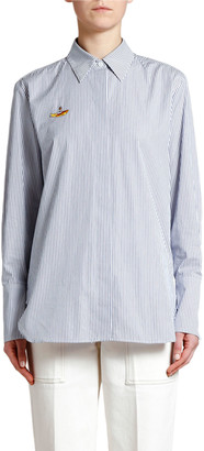 Stella McCartney Submarine Pinstriped Cotton Blouse