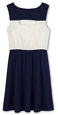 My Michelle Lace-Bodice Dress - Girls 7-16