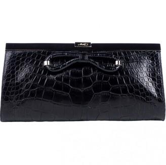 Bally Black Crocodile Clutch bags