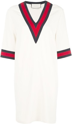 Gucci Web stripe trim dress