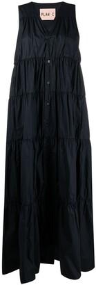Plan C Sleeveless Tiered Cotton Dress