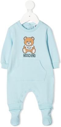 MOSCHINO BAMBINO Teddy logo-print pajama