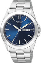 JCPenney Citizen Quartz Citizen Mens Blue Dial Stainless Steel Watch BF0580-57L