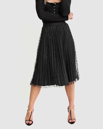 Belle & Bloom Women's Black Midi Skirts - Mixed Feelings Reversible Skirt - Size One Size, XS-S at The Iconic