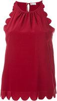 RED Valentino scalloped sleeveless top - women - Silk - 38