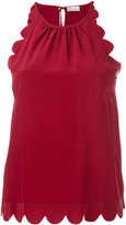 RED Valentino scalloped sleeveless top - women - Silk - 40