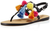 Rebecca Minkoff Estelle Studded Pom-Pom Thong Sandals