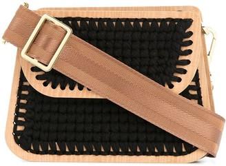 0711 Monaco small woven clutch
