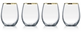 Luminarc Gold-Rimmed 4-Pc. Stemless Flute Set