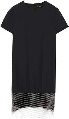 Versace Chainmail-embellished Crepe Mini Dress