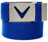 Callaway 2015 Webbed Commodity Chev Logo Leather Mens Golf Belt