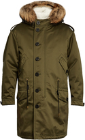 Burberry Shearling-lined fur-trimmed parka