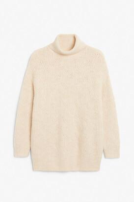 Monki Heavy knit turtleneck sweater